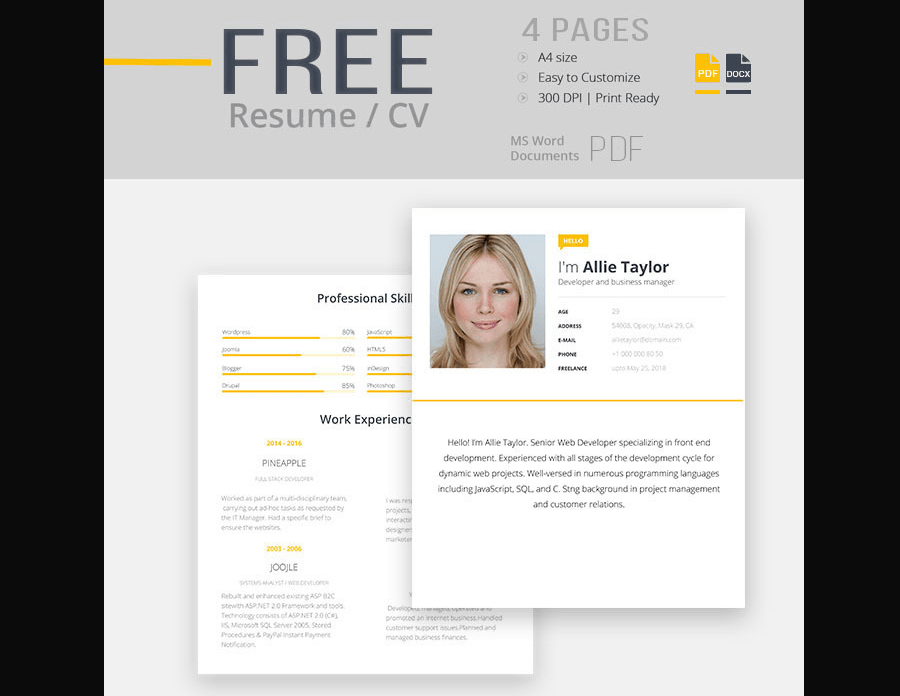 best totally free resume templates