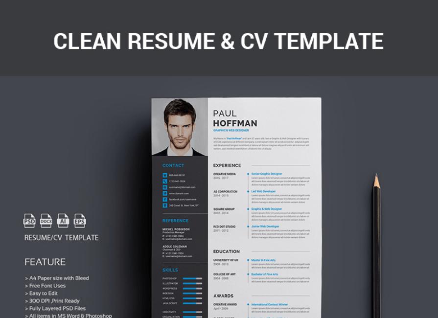 40 Best 2018's Creative Resume CV Templates Printable DOC