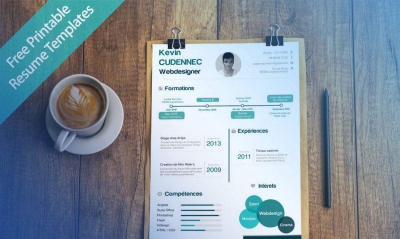 40 Best 2019's Creative Resume CV Templates Printable DOC