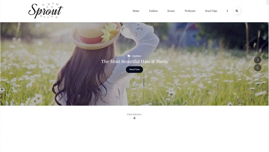 Sprout - Responsive Personal Blog WordPress Theme
