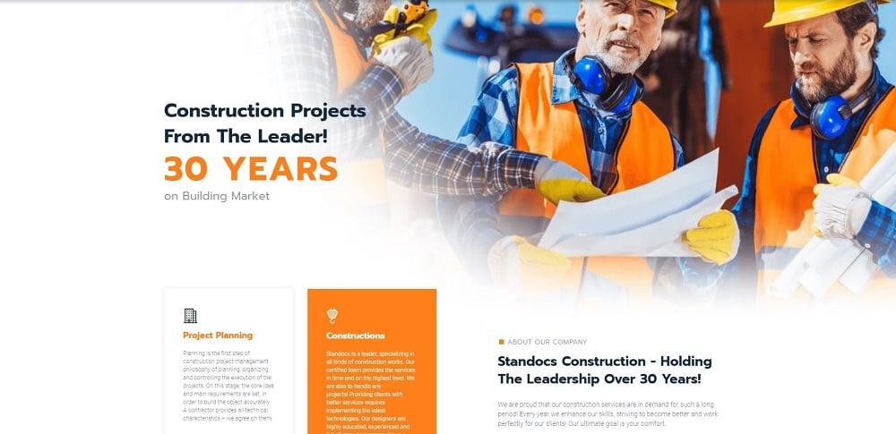 Brixtone - Construction Pro Elementor Template