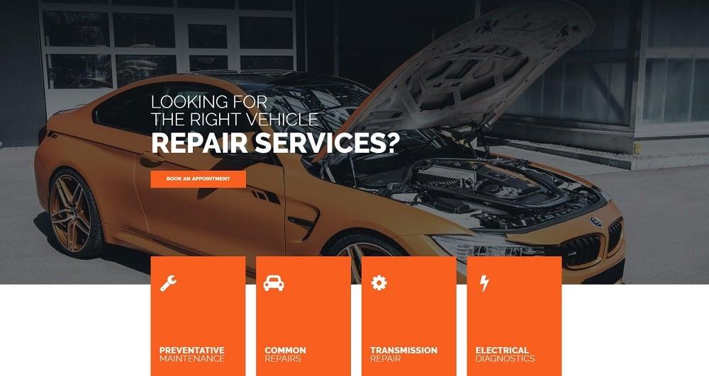 Engirem - Car Repair Elementor Template