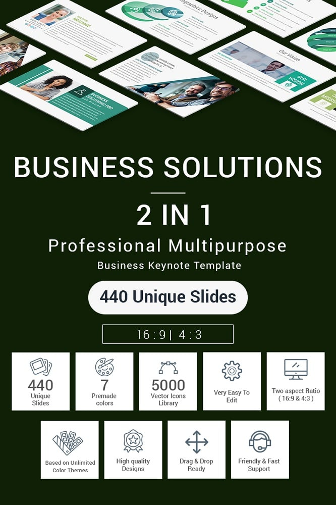 Business Solutions - 2 In 1 Keynote Template