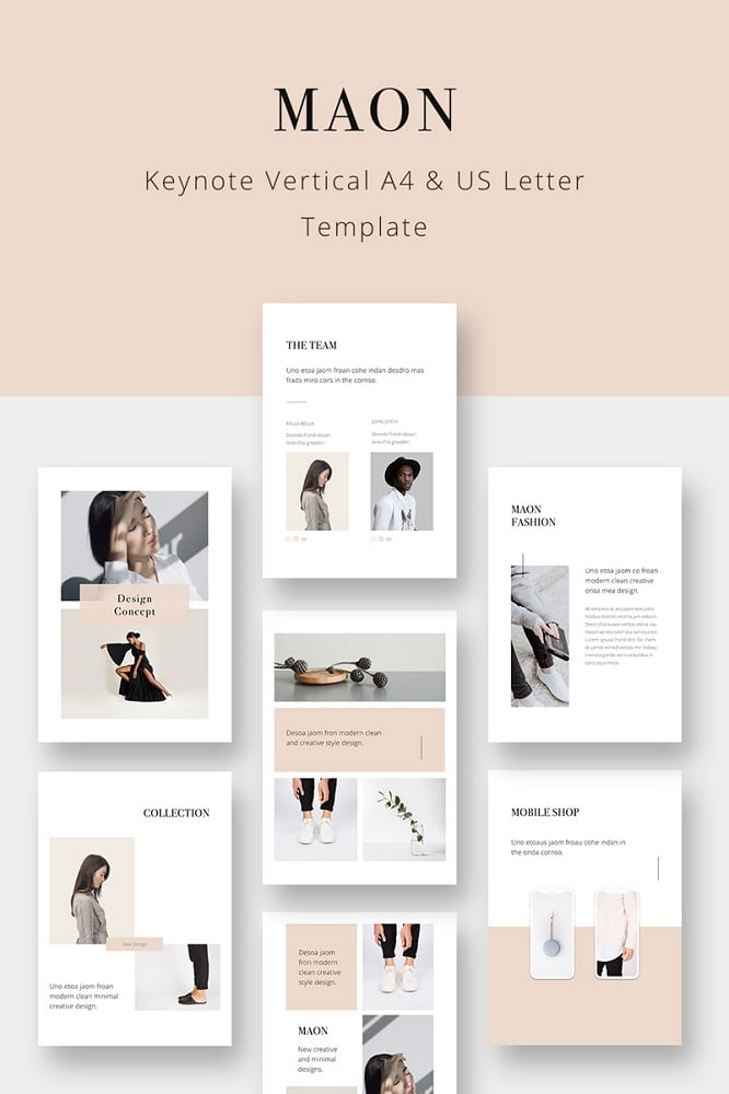 MAON - Vertical Keynote Template