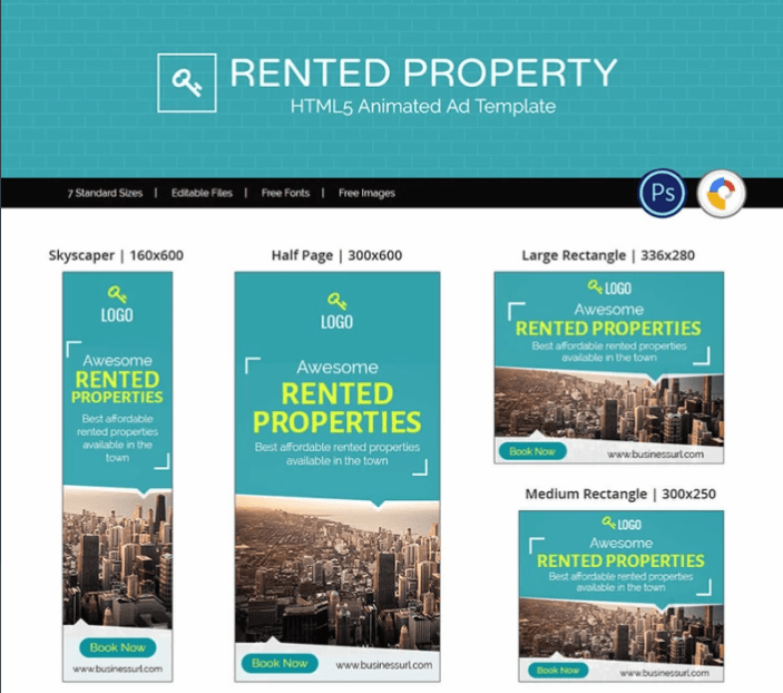 Real Estate Rented Property Ad Animation Banner