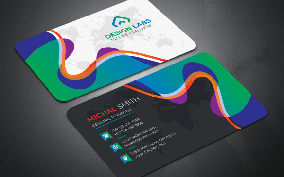 Colorful and Creative Modern Business Card Template