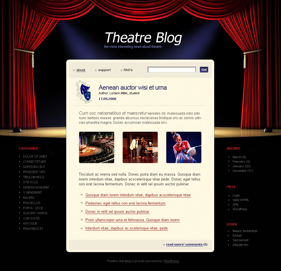 Theater WordPress Theme #20436
