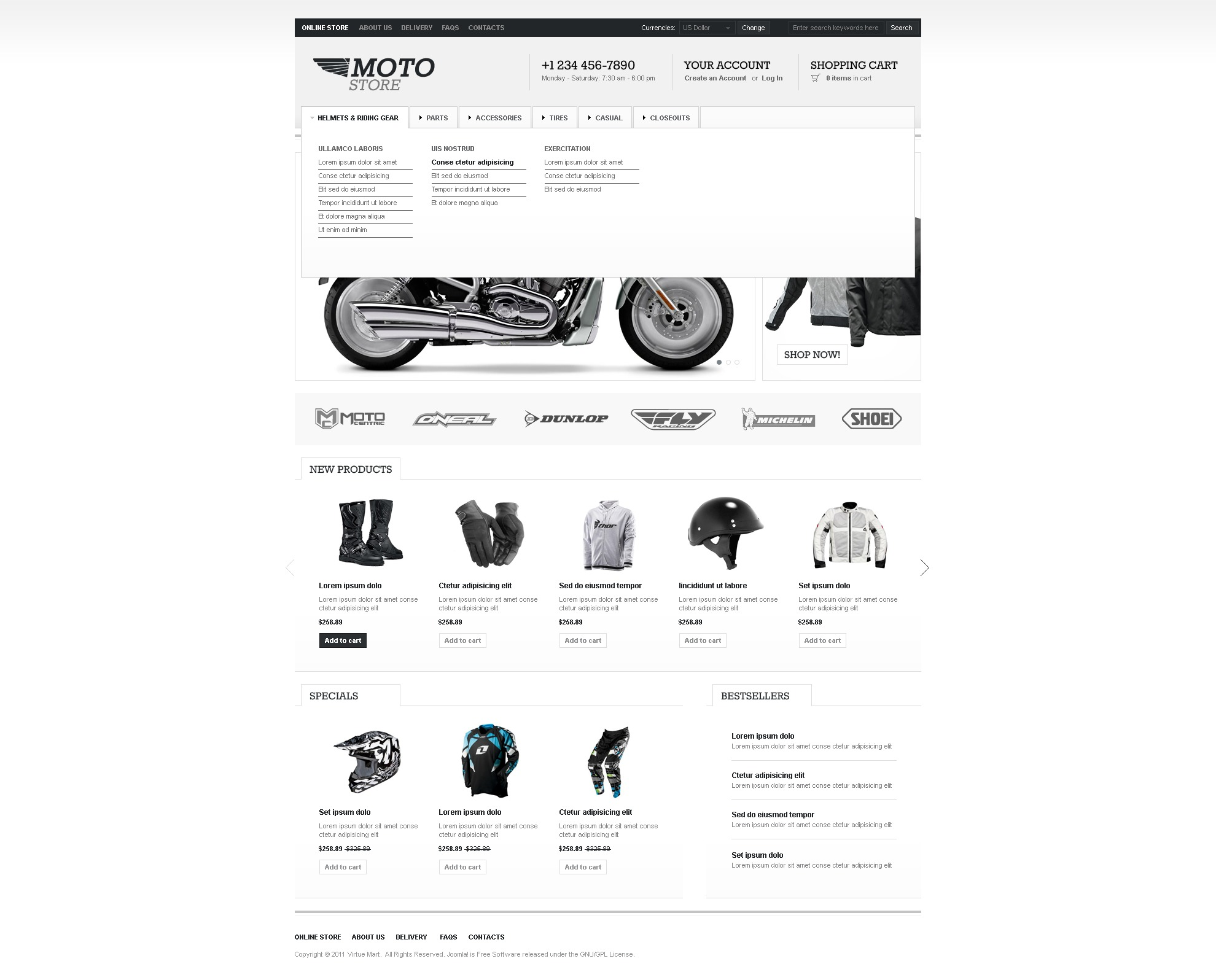 Bike Shop VirtueMart Template #36586