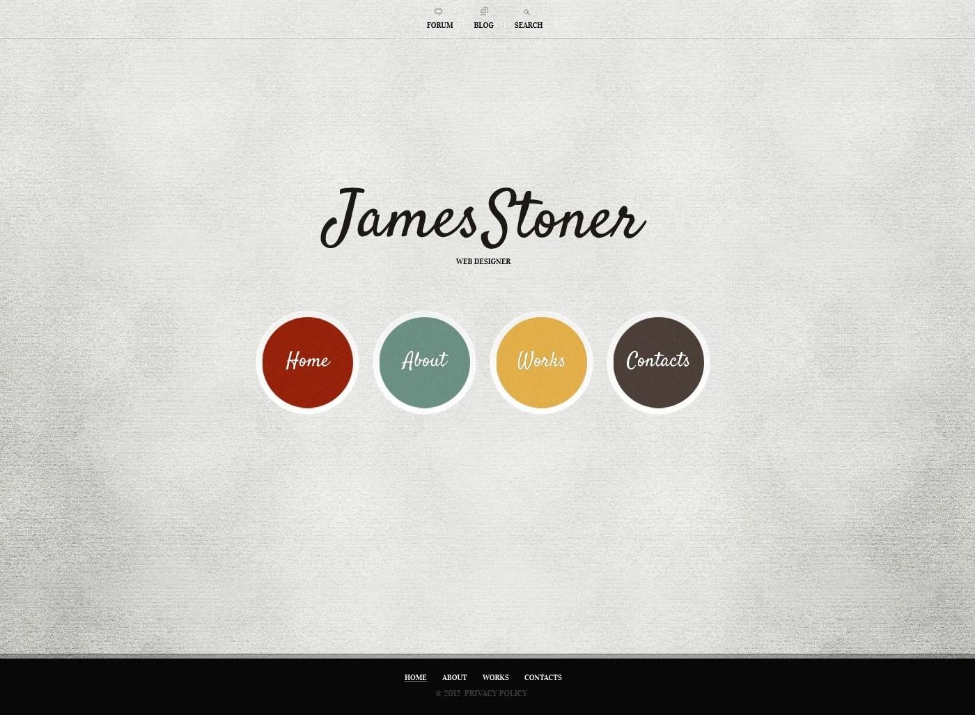 Designer Portfolio Website Template 38278