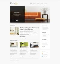 Interior Design Responsive Website Template #39608