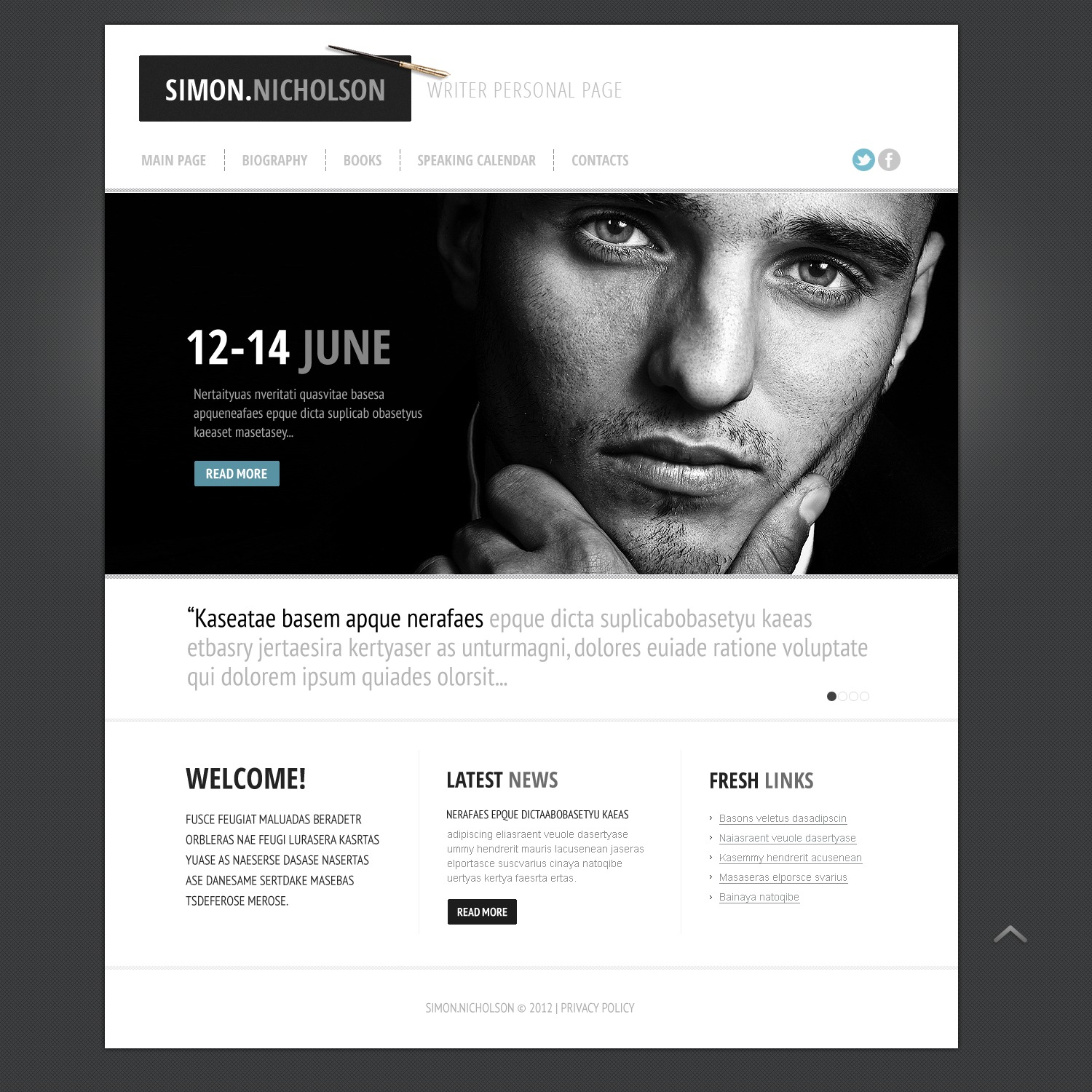 Personal Page Website Template 39613