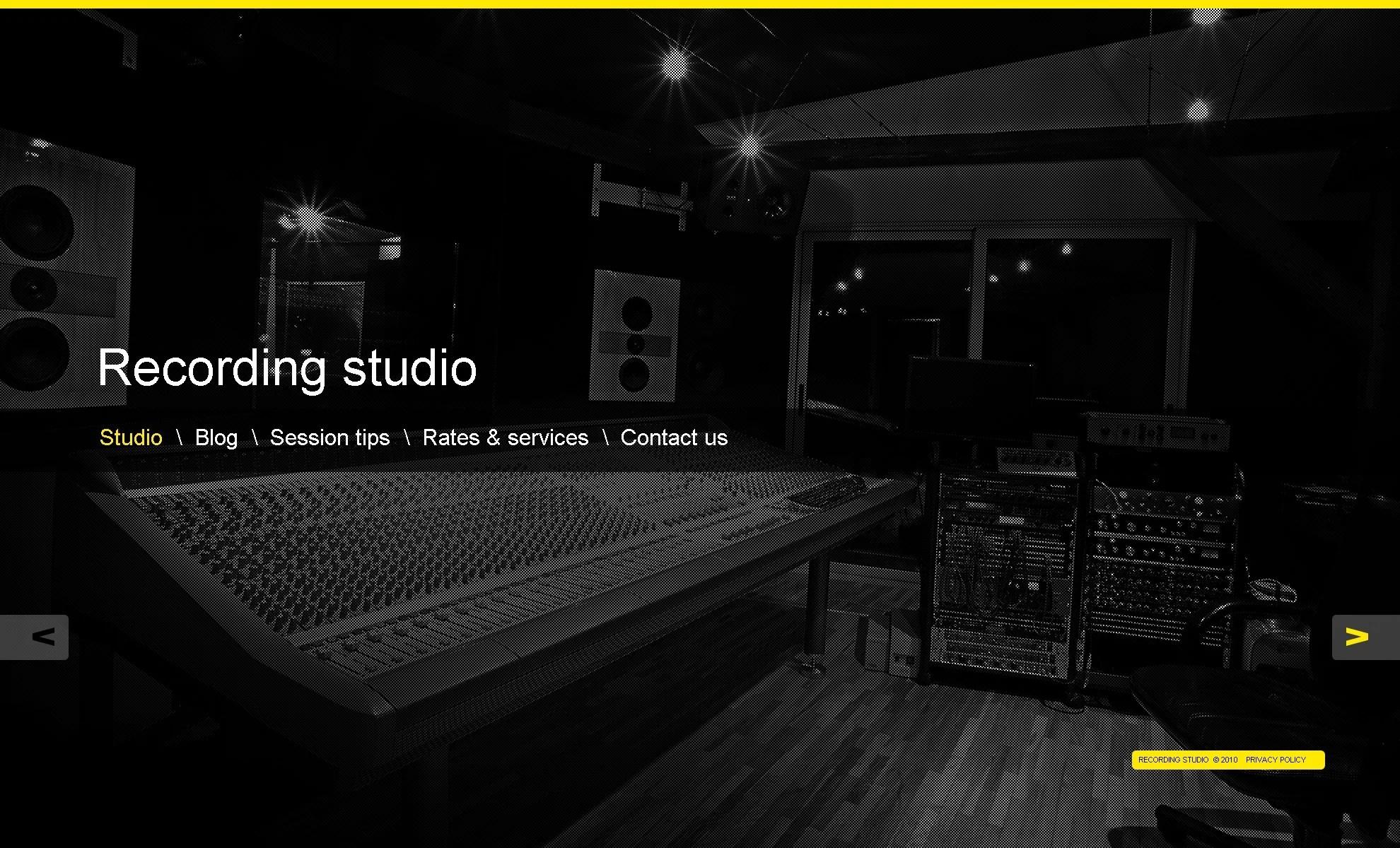 Recording Studio WordPress Theme 39963