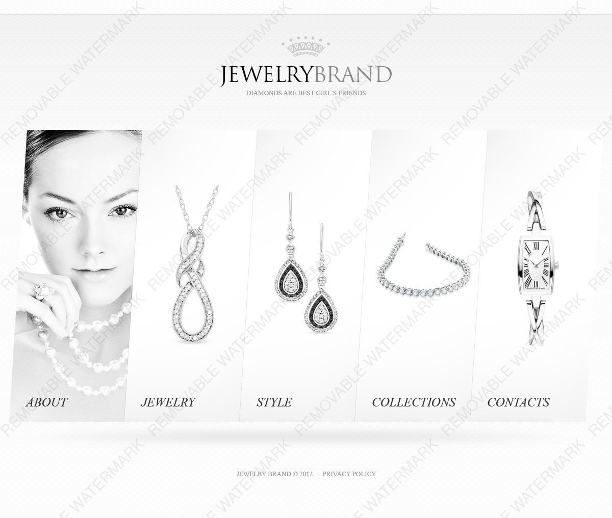 Jewelry Website Template By Wt