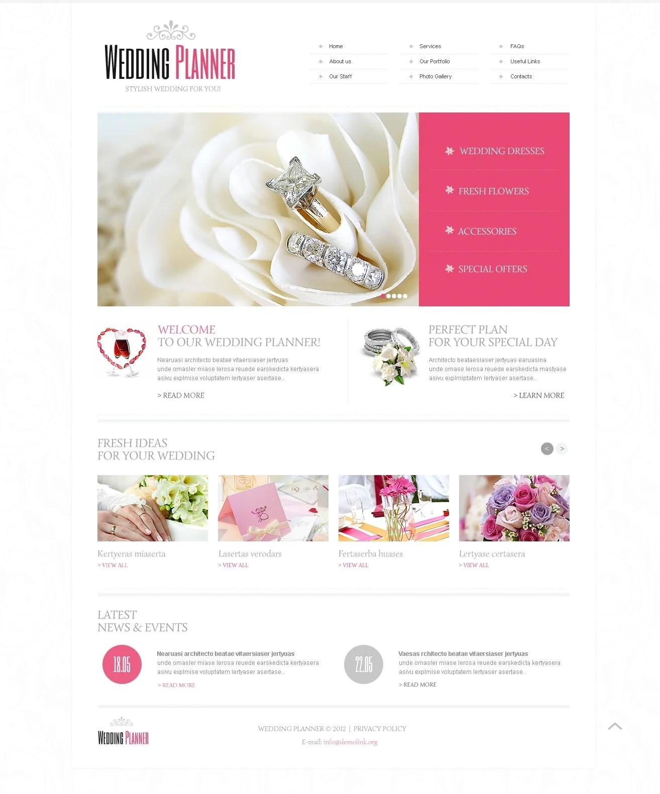 Wedding planning website free wedding reception venues orange wedding planner website template 40649 maxwellsz