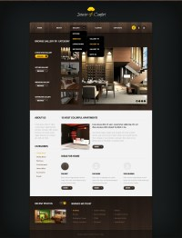 Interior Design Website Template #40898
