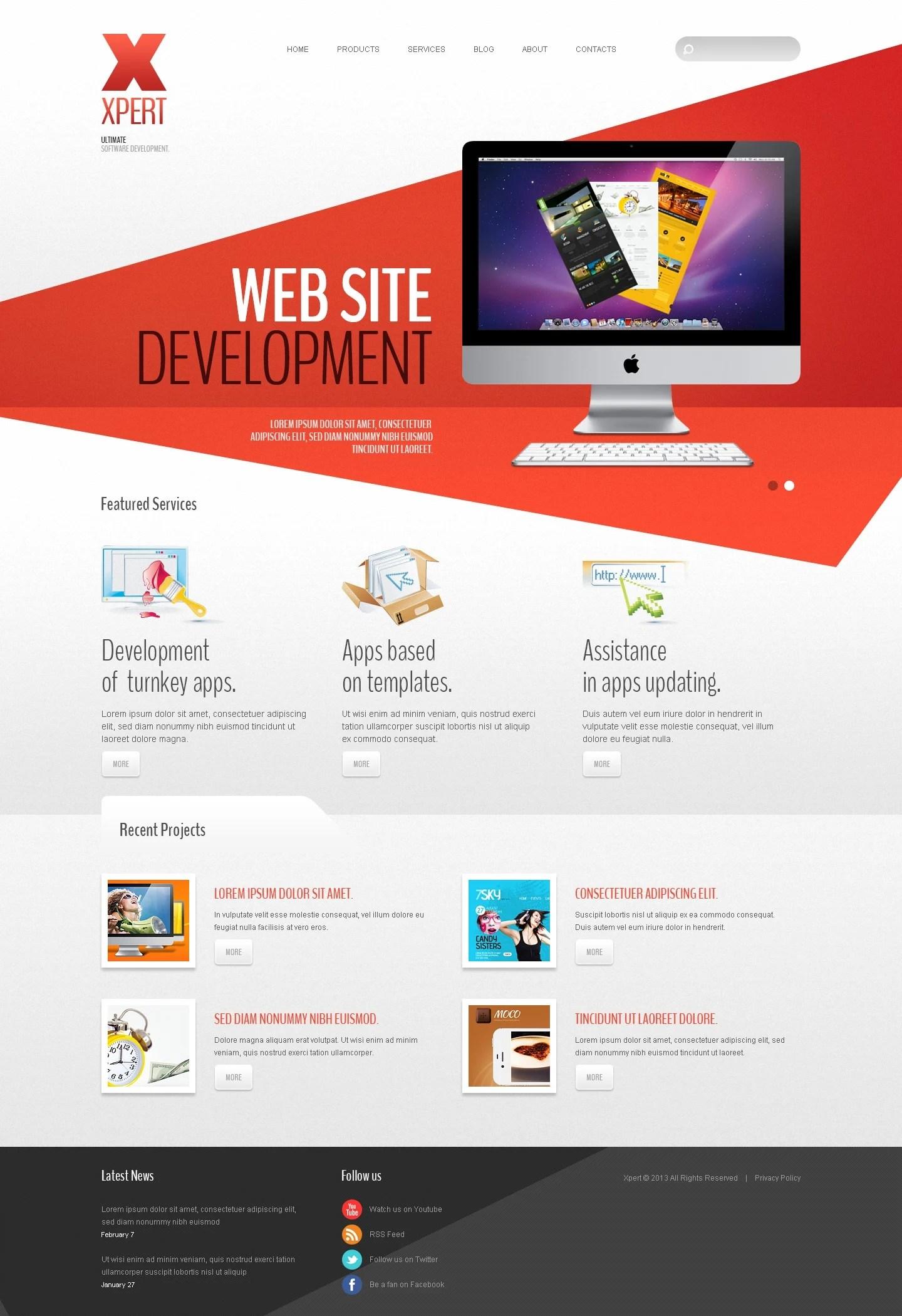 Software Company Joomla Template 42980
