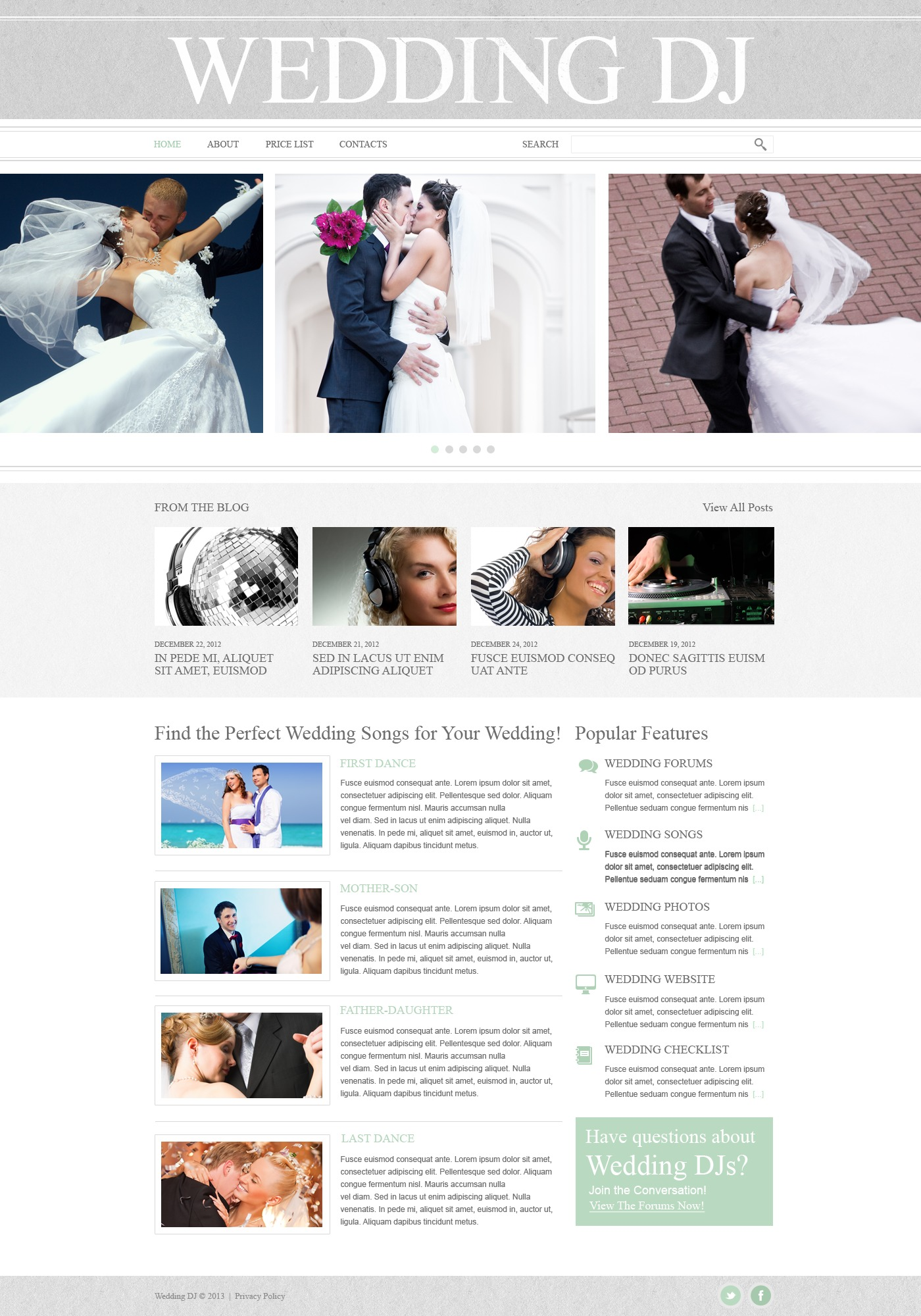 Wedding Website Template 43002