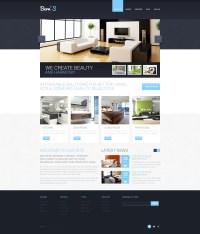 Interior Design Responsive Website Template #44659