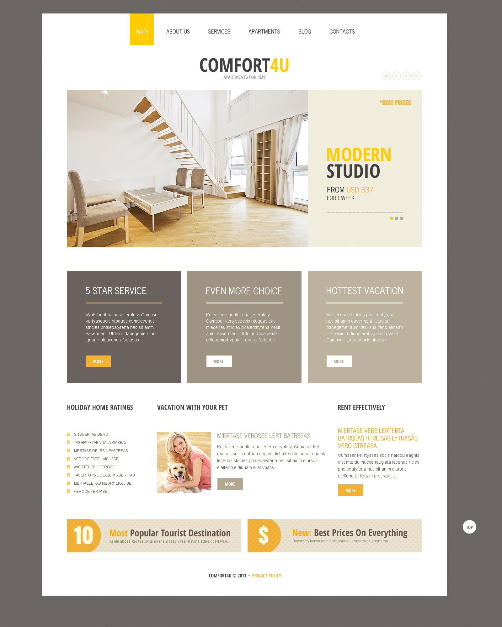 Square Real Estate Joomla Template #46370