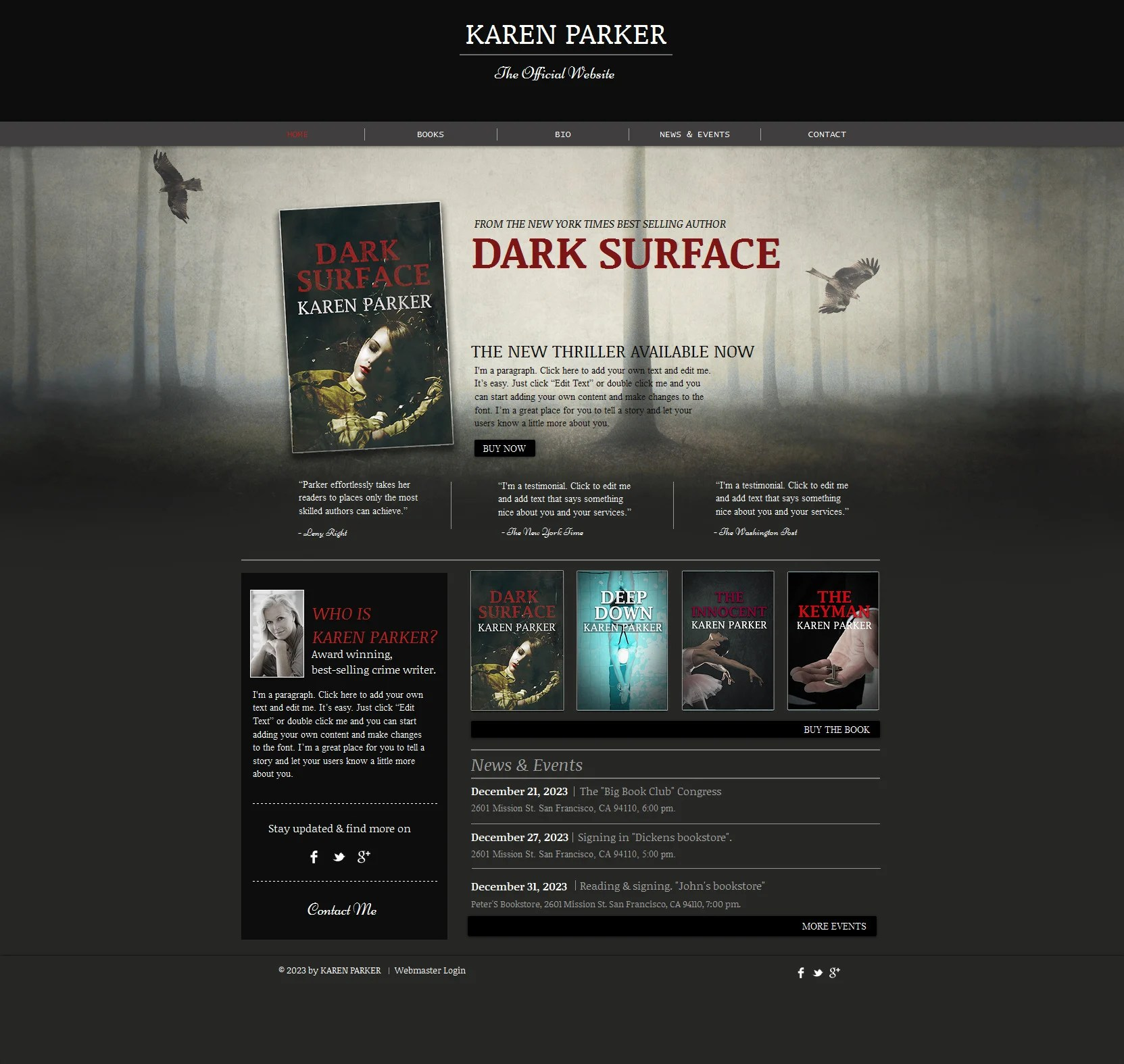 Personal Page Wix Website Template 47287