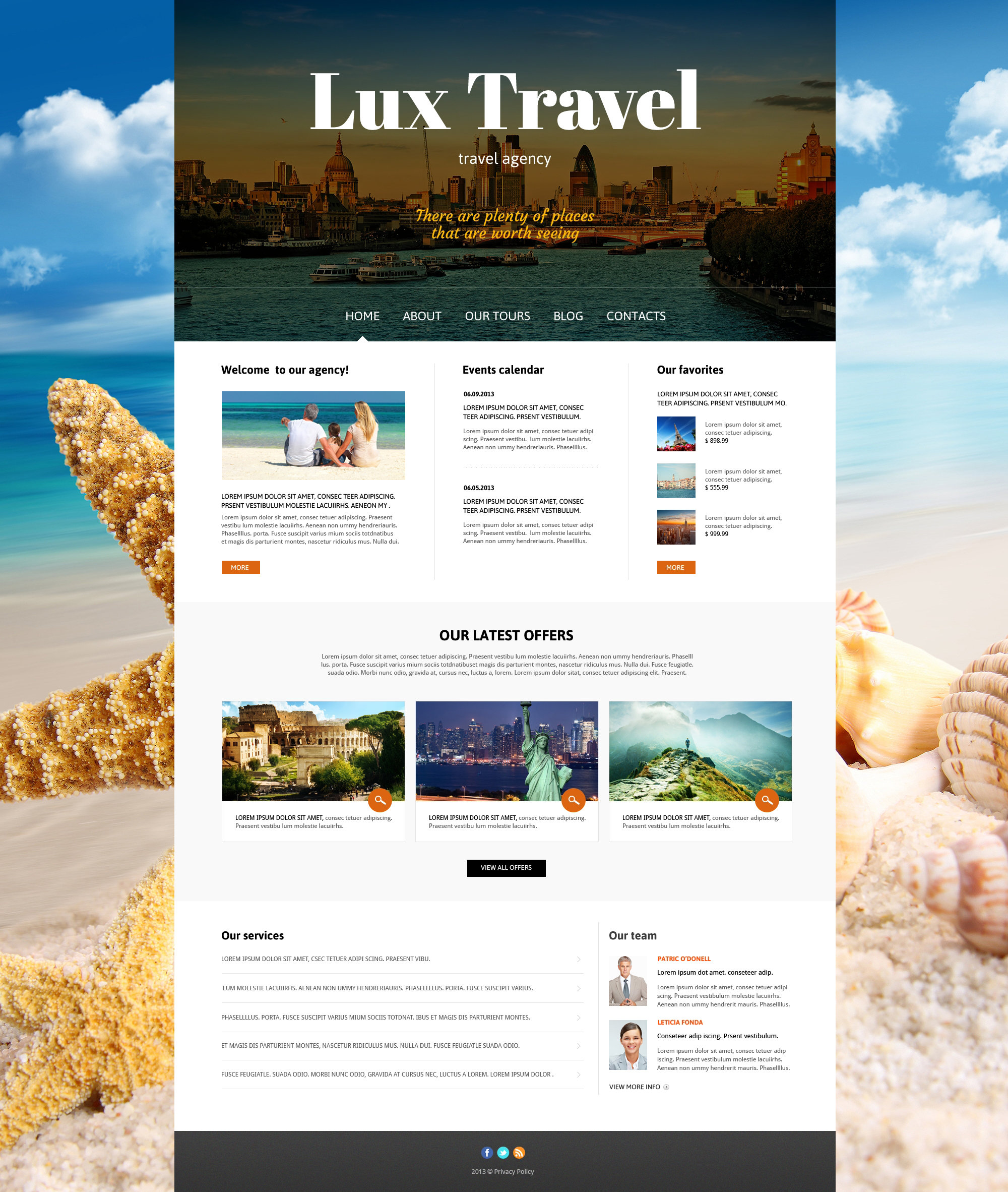 Travel Agency Responsive Joomla Template #47239