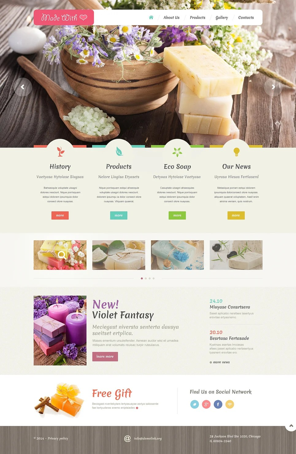Crafts Responsive Website Template #48988