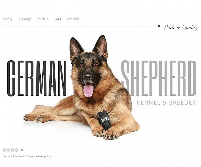 German Shepherd Dog Breeding Website Template MotoCMS