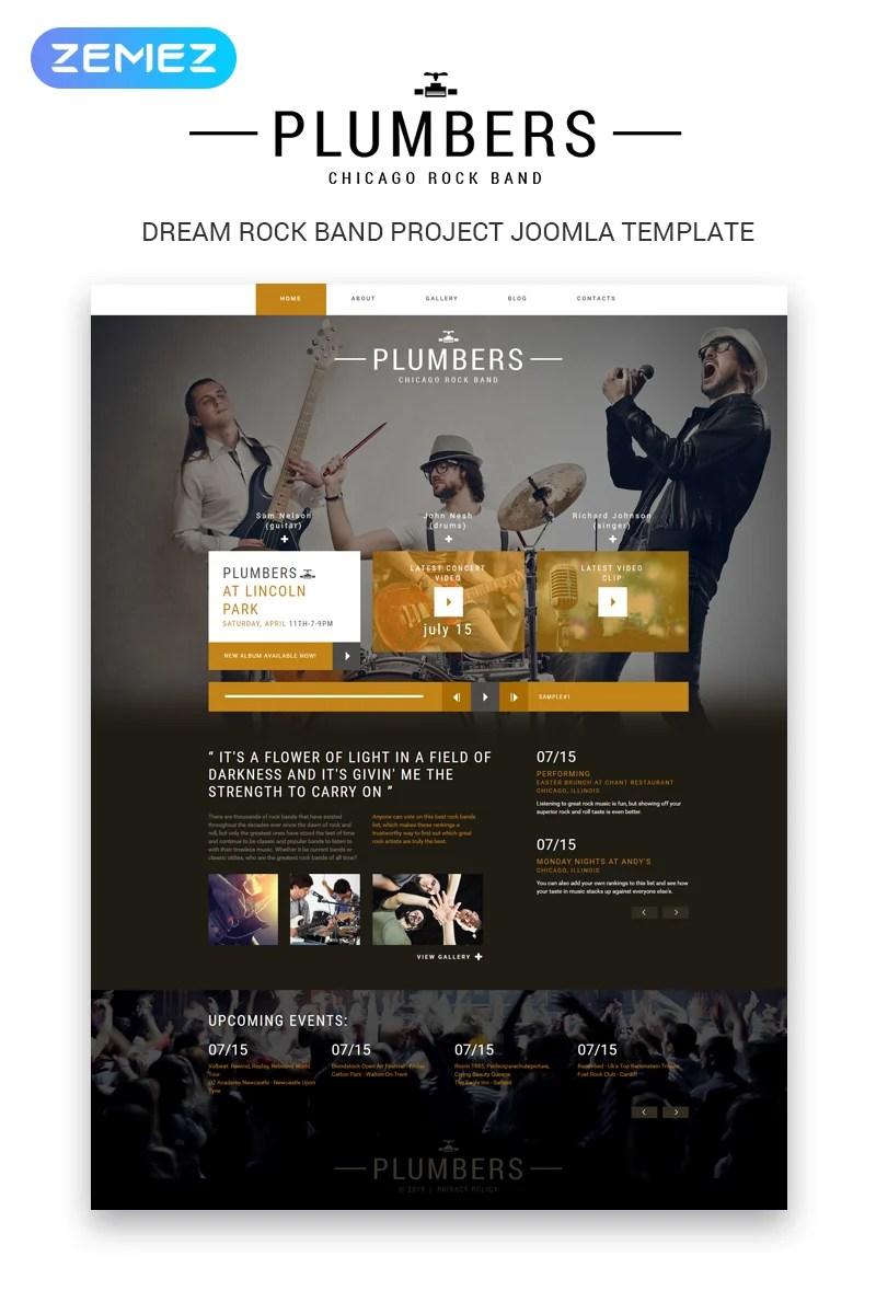 Dream Rock Band Project Joomla Template #50601