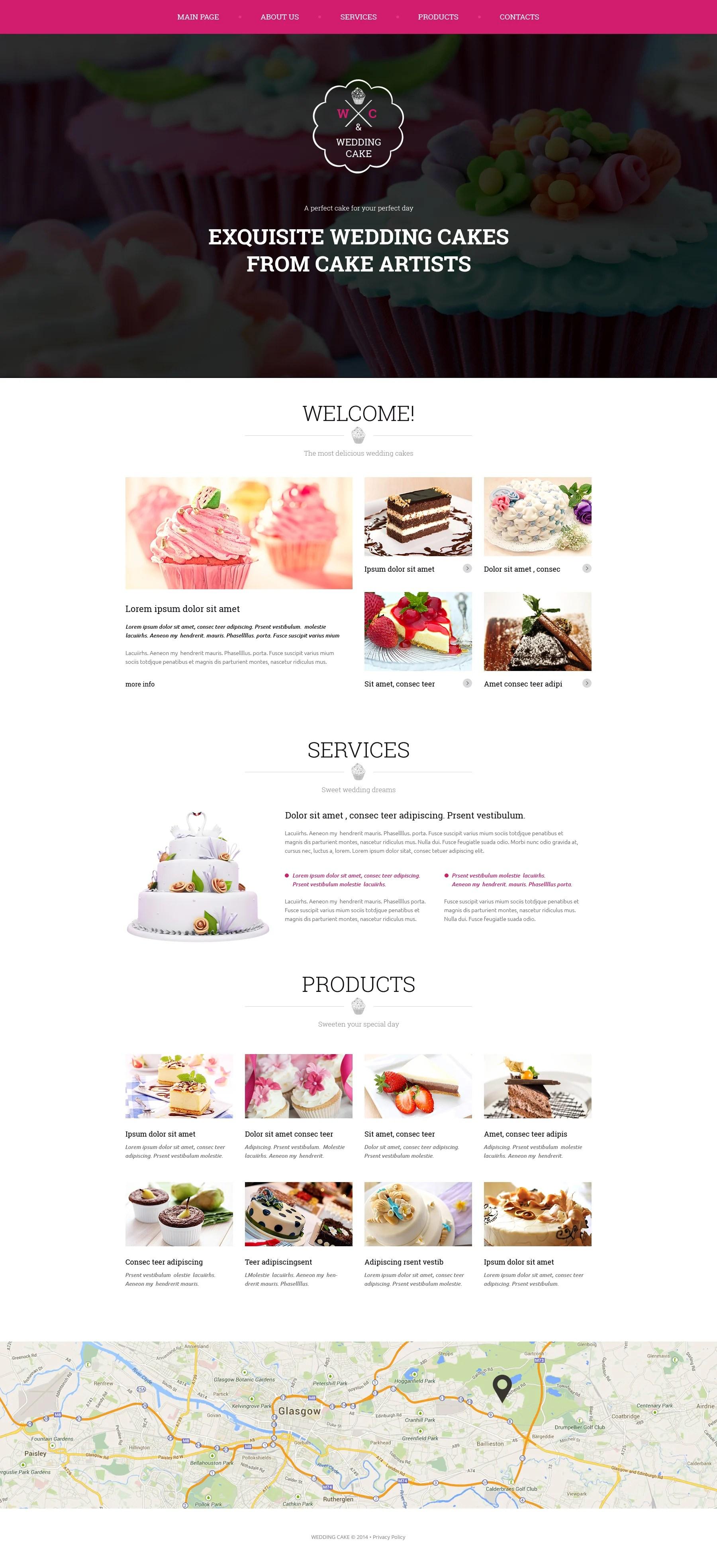11 Best Wedding Cake Website Templates