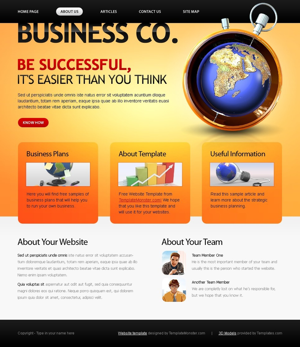 230 free responsive html5 css3 website templates business company website template pronofoot35fo Image collections