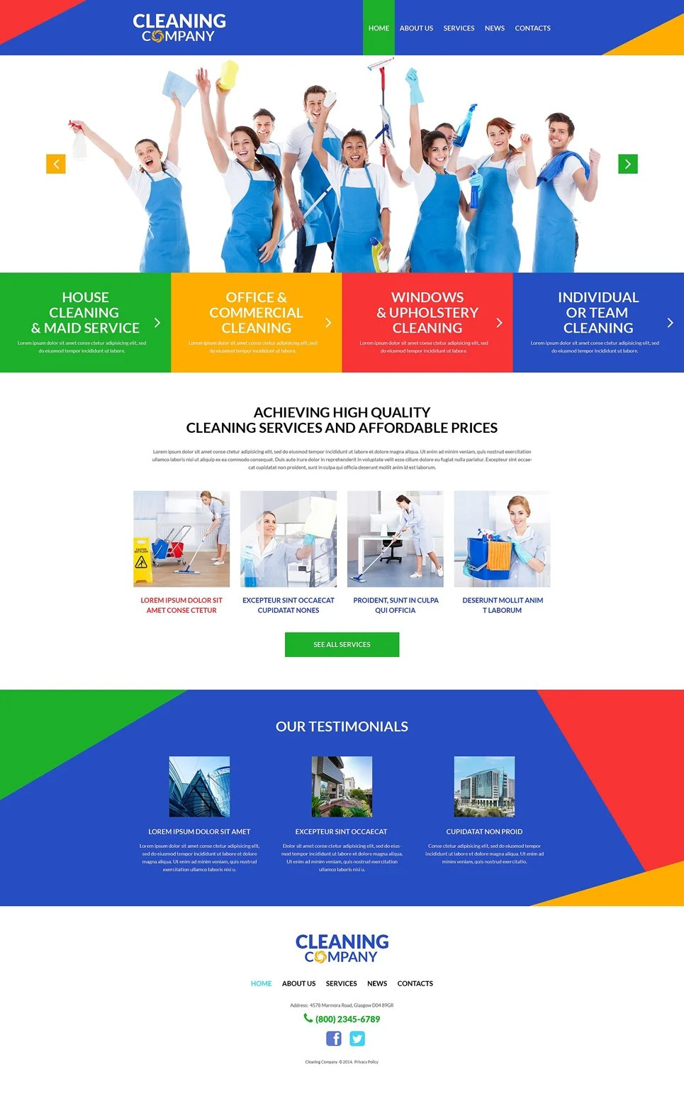 Cleaning Services WordPress Theme #51991