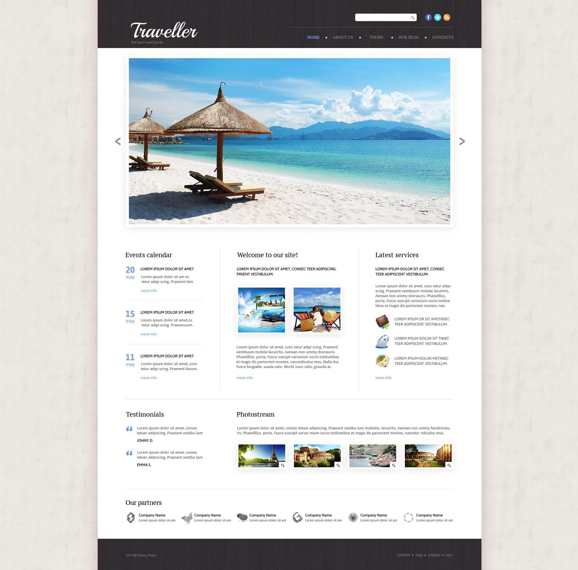 Modèle Web Adaptatif #53865 Pour Site D'agence De Voyage