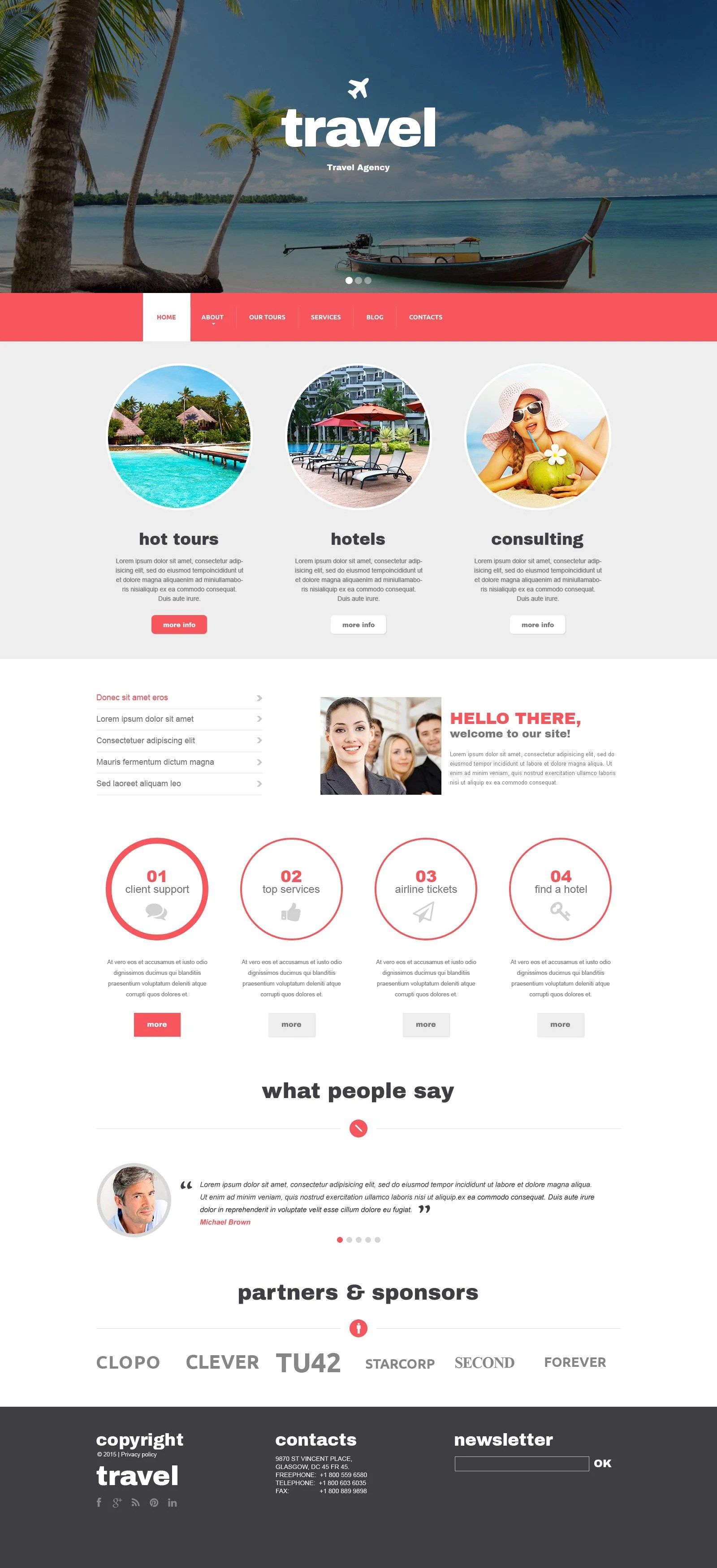 Online Travel Agent Cover Letter Drupal Template Download Premium Flash Drupal Cms Templates And