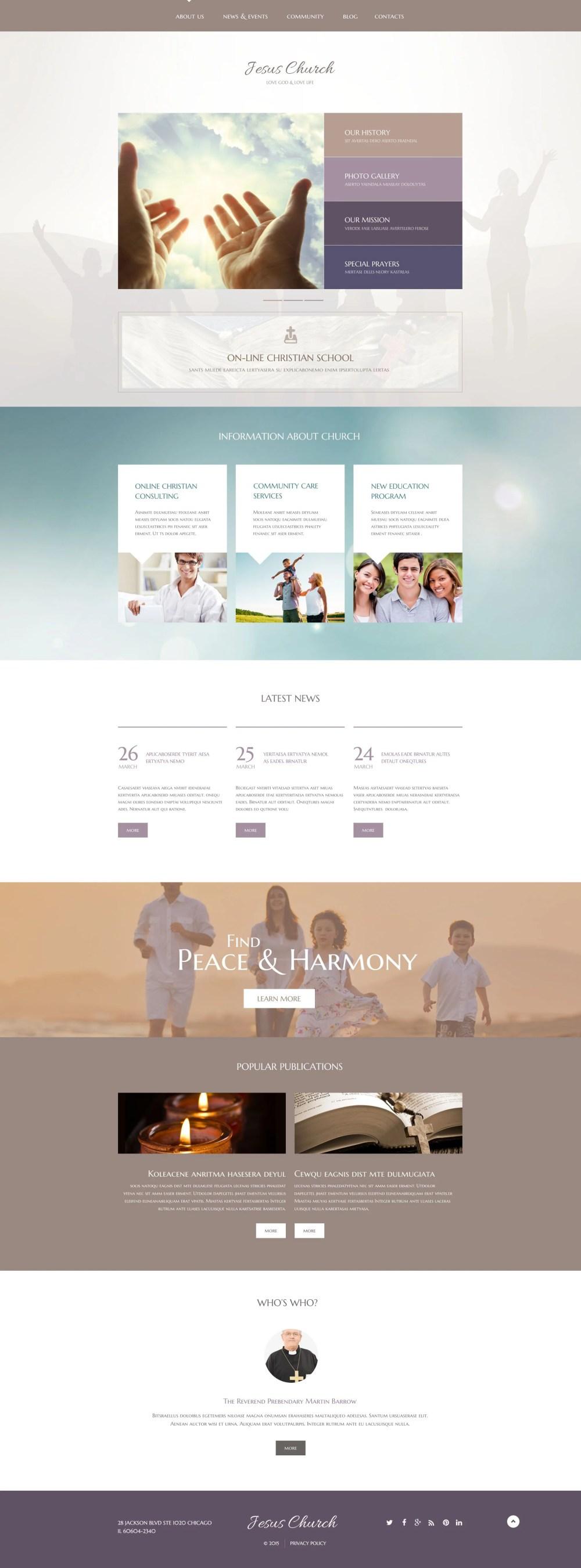 medium resolution of jesus church wordpress theme