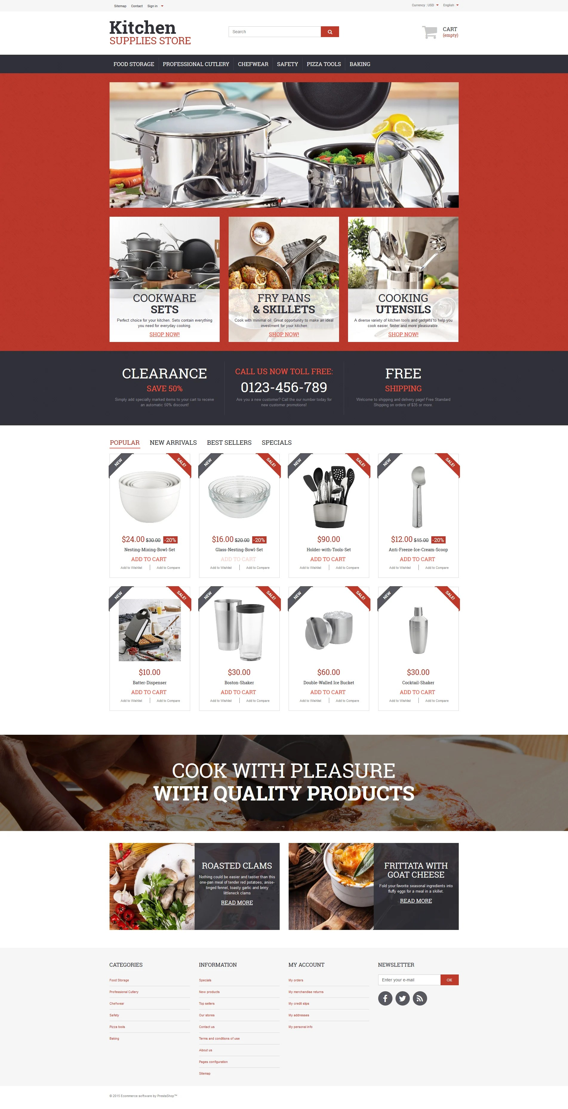 kitchen supplies store carts on wheels dishware prestashop theme