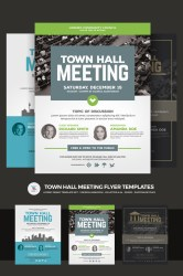 meeting flyer town hall template psd templates business