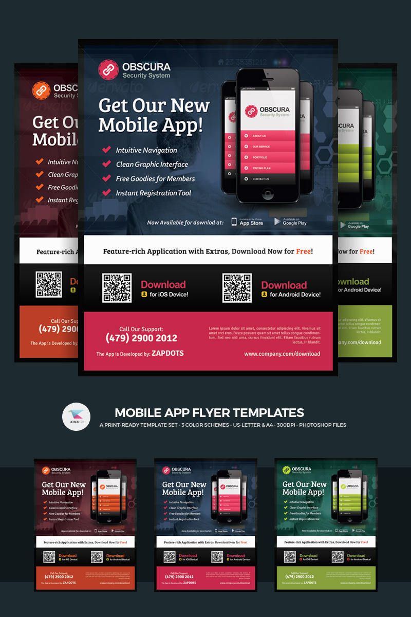 Mobile App Flyer PSD Template 66250