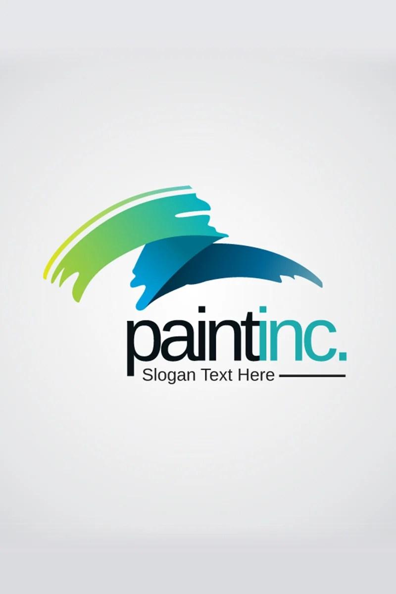 Creative Pain Brush Logo Template 66924