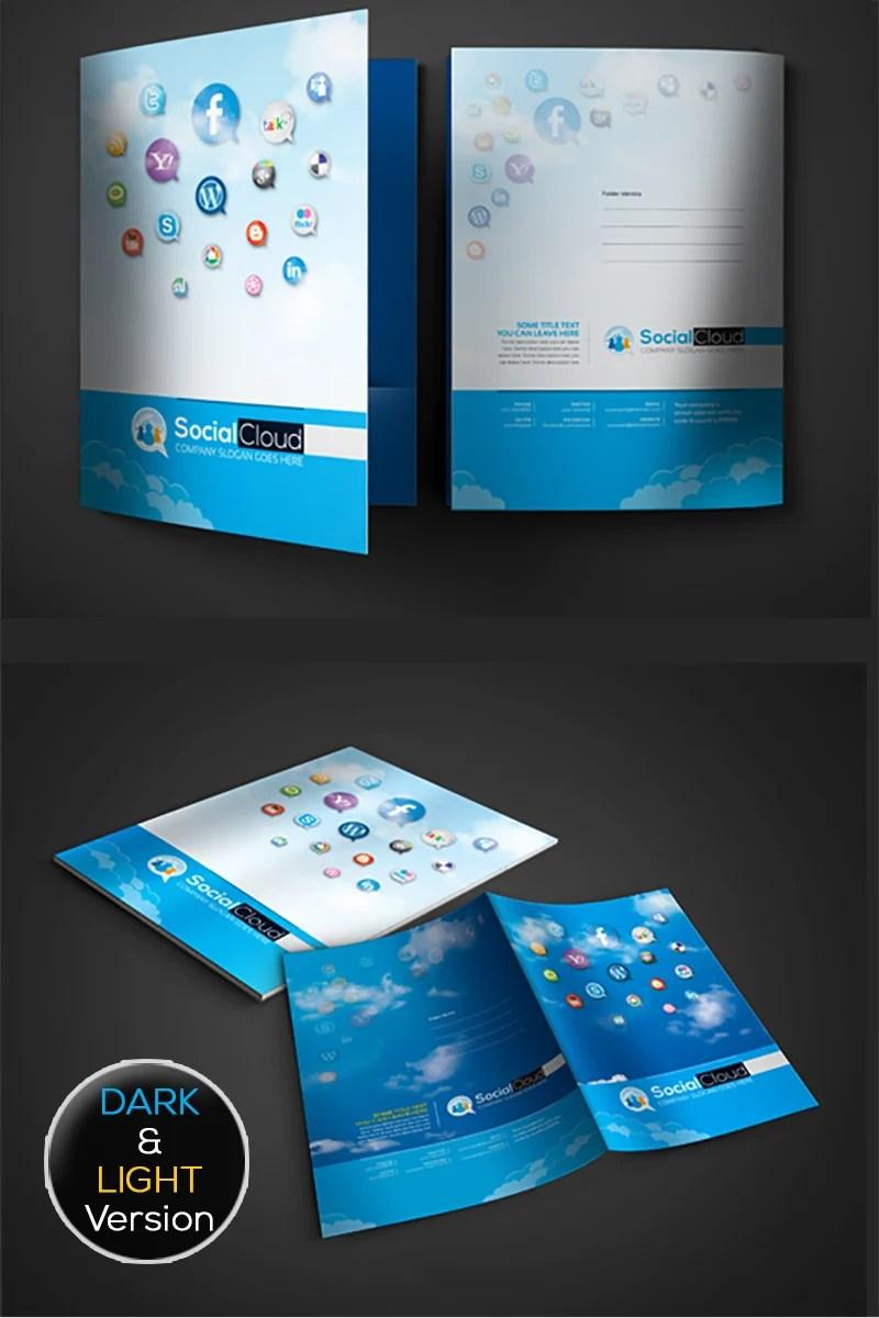 Social Media Presentation Folder Corporate Identity