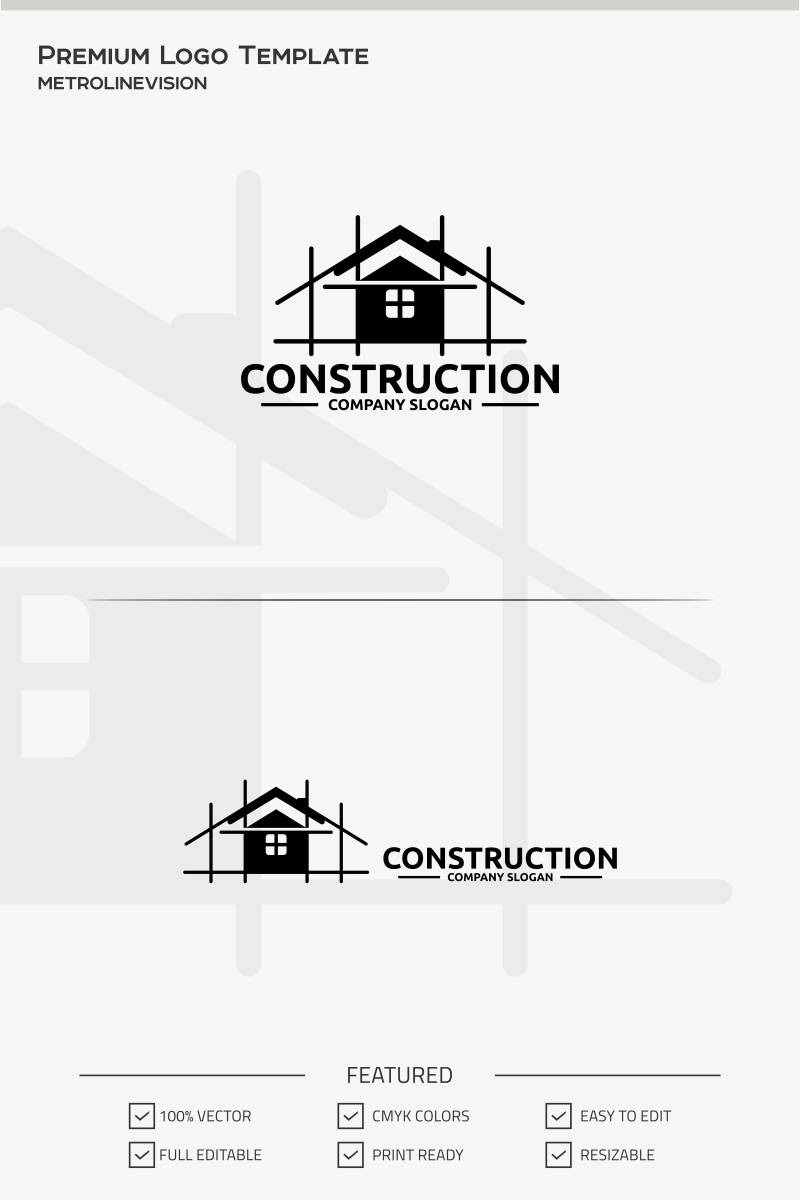 Construction Logo Template #69783