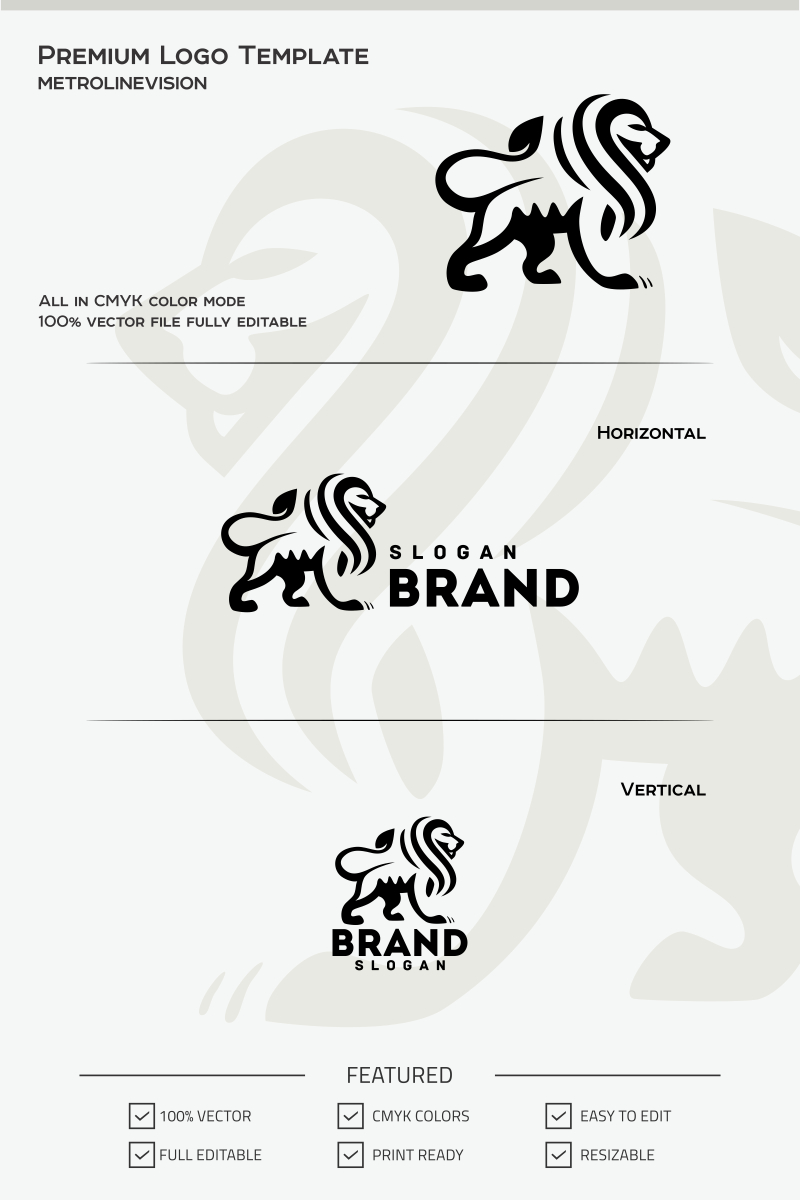 Lion Logo Template #69743