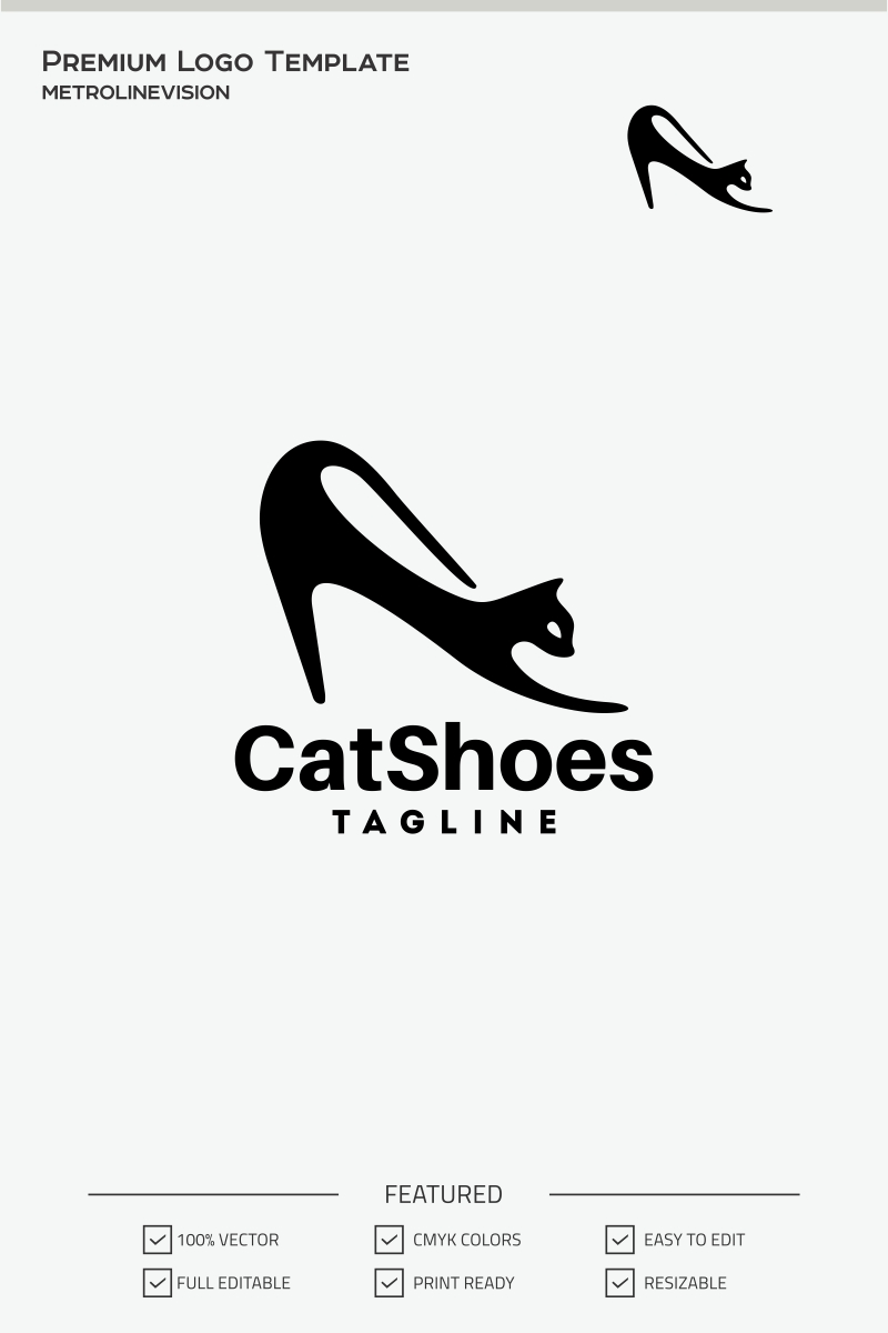 Cat Shoes Logo Template #70861