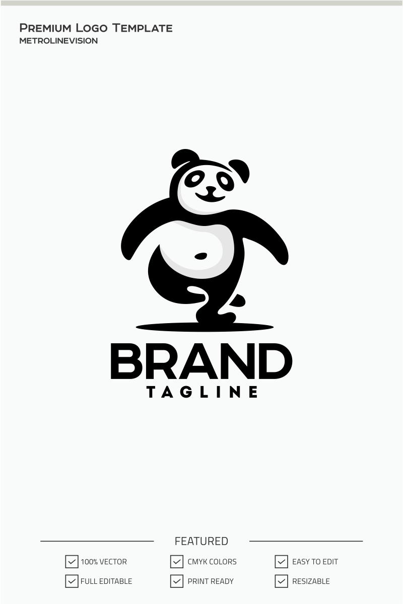 Happy Panda Logo Template #71092