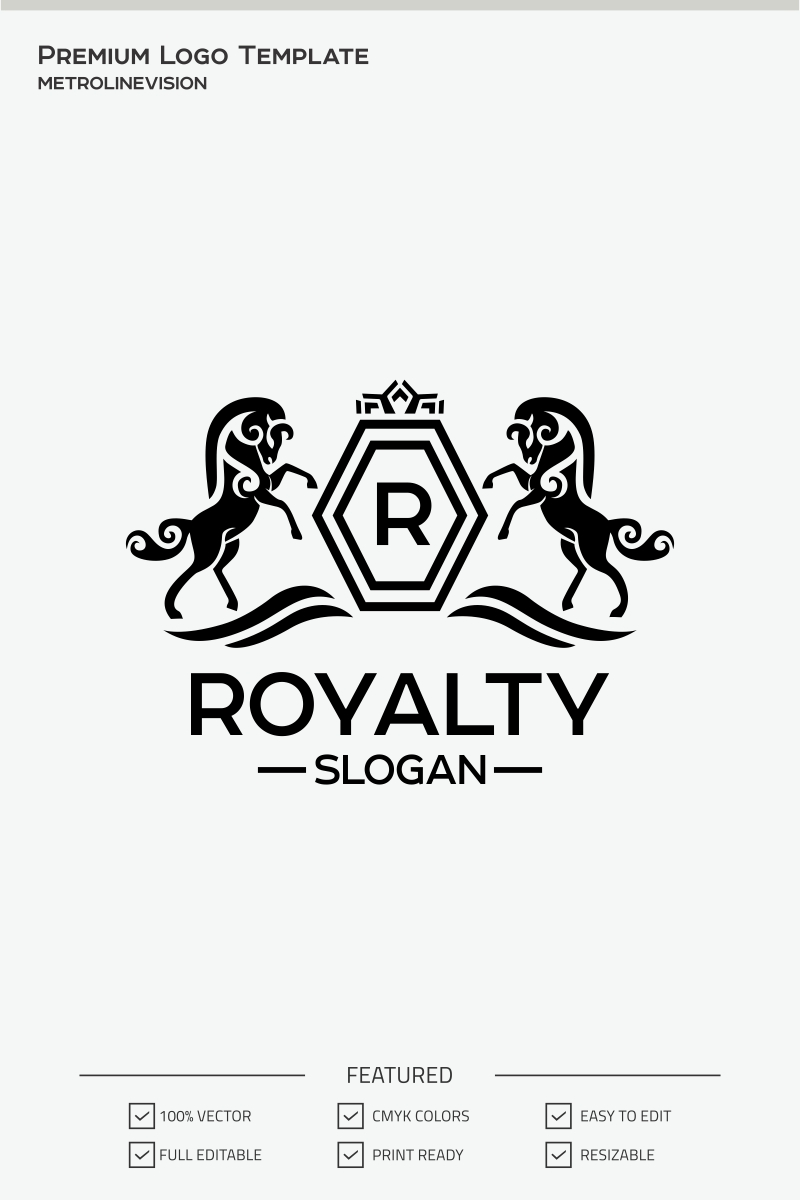 Royal Horses Logo Template #71299