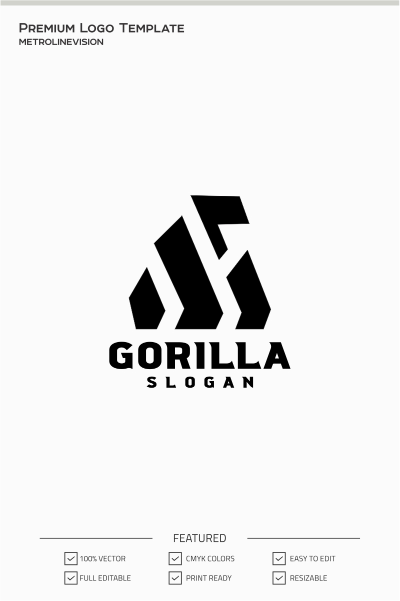 Gorilla Logo Template #71399
