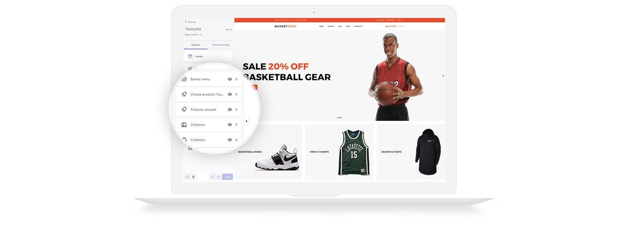BasketTeam Shopify Theme #73660