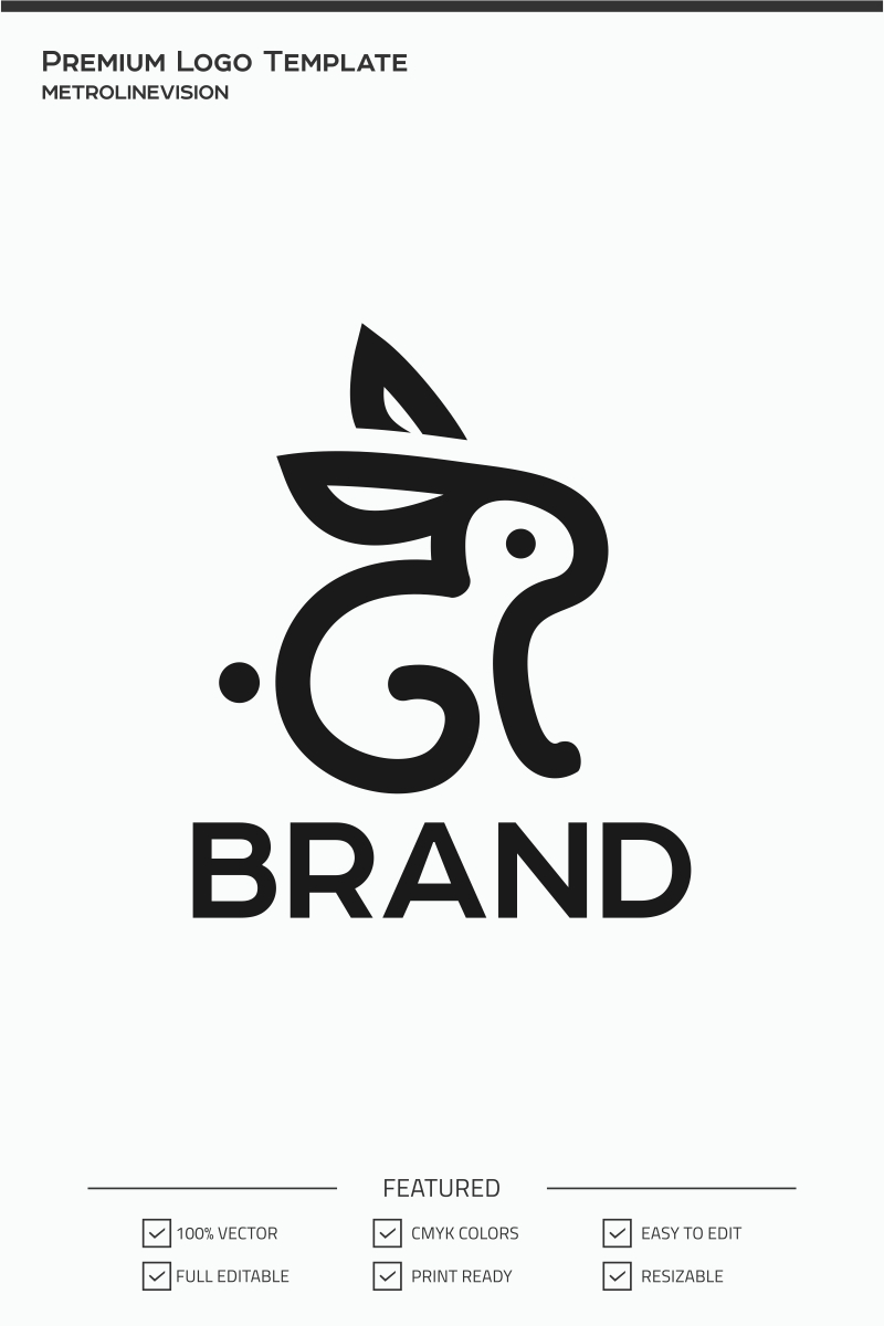 Rabbit Logo Template #74021