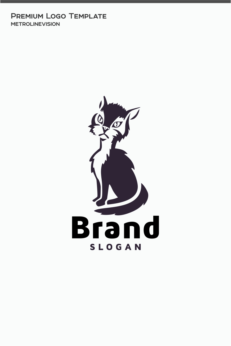 Cat Logo Template #75149