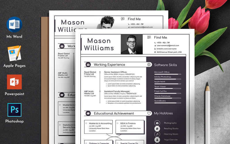 Check out our resume template for mac pages selection for the very best in. Professional Clean Editable Word Apple Pages Cv Resume Template Free Download Download Professional Clean Editable Word Apple Pages Cv Resume Template