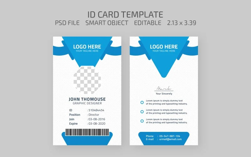 If you have a gps device or other portable device that uses an sd card you may need the sd card id. Graphic Designer Employee Id Card Corporate Identity Template